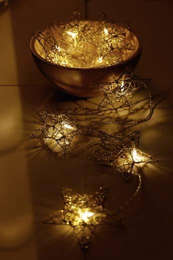 LED-es beltéri fényfüzér, csillagokkal, 10 LED Melegfehér 770 cm Polarlite