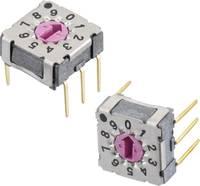 Forgó kapcsoló 42 V/DC 0.1 A Kapcsolási pozíciók 10 Würth Elektronik WS-RAT 428547320910 1 db Würth Elektronik