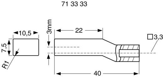 Billentyűsapka piros nyomókapcsolóhoz