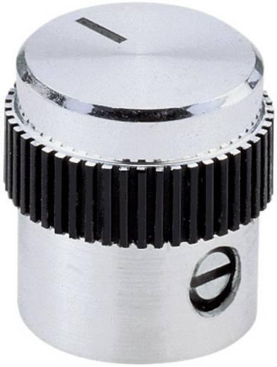 Mentor alu forgatógomb, műanyag betéttel, Ø6 mm, 5615.6614
