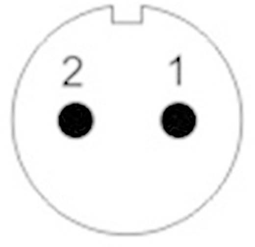 Kerek dugaszolható Push-Pull csatlakozó, IP67 Pólusszám: 2 Peremes hüvely 13 A SF1213/S2 Weipu 1 db