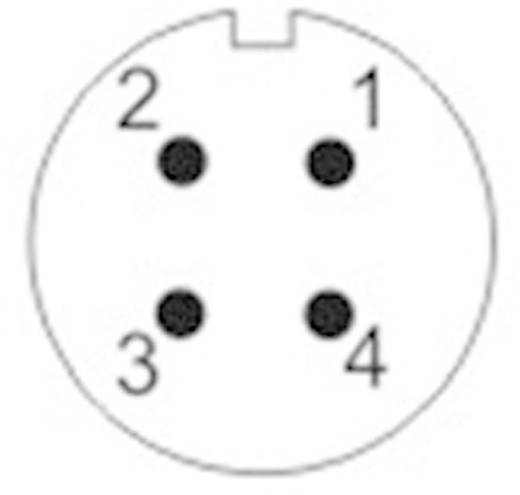 Kerek dugaszolható Push-Pull csatlakozó, IP67 Pólusszám: 4 Peremes hüvely 5 A SF1213/S4 Weipu 1 db