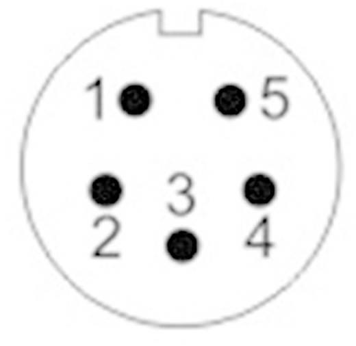 Kerek dugaszolós csatlakozó, Push-Pull IP67 5 pól. aljzat 5 A SF1213/S5 Weipu 1 St.