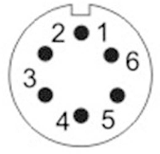 Kerek dugaszolható Push-Pull csatlakozó, IP67 Pólusszám: 6 Peremes hüvely 5 A SF1213/S6 Weipu 1 db