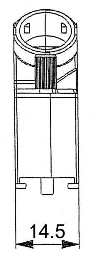 D-SUB EMC sapkák, 25 pólusú, 45°
