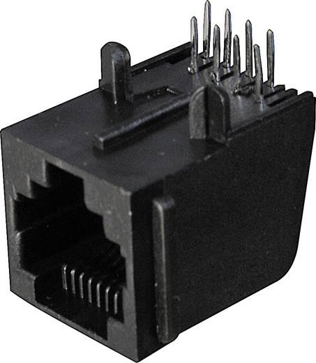 Moduláris beépíthető csatlakozóalj Alj, egyenes Pólusszám: 8P8C A-20042 Fekete ASSMANN WSW Tartalom: 1 db