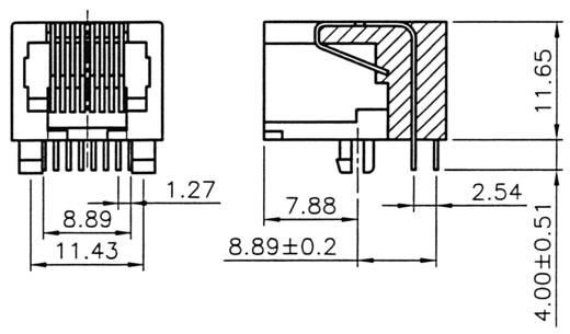Moduláris beépíthető csatlakozóalj Alj, beépíthető Pólusszám: 8P8C A-20042/LP Fekete ASSMANN WSW Tartalom: 1 db