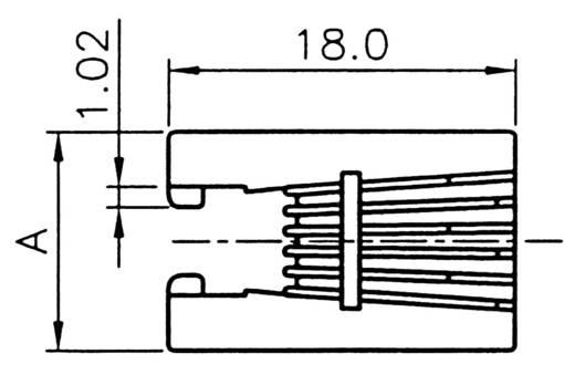 Moduláris beépíthető csatlakozóalj Alj, beépíthető Pólusszám: 6P6C A-20041/LP Fekete ASSMANN WSW Tartalom: 1 db