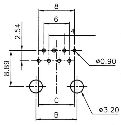 RJ10 beépíthető csatlakozó aljzat, 4P4C, függőleges, ASSMANN WSW A-20040/LP