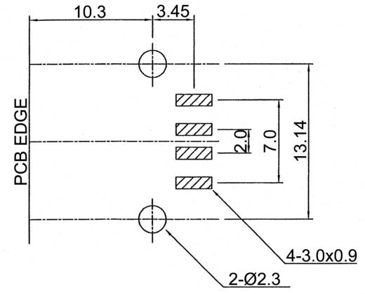 USB dugó SMD kivitel B típus