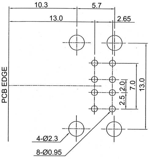 Beépíthető USB 2.0 csatlakozóaljzat - 2 portos