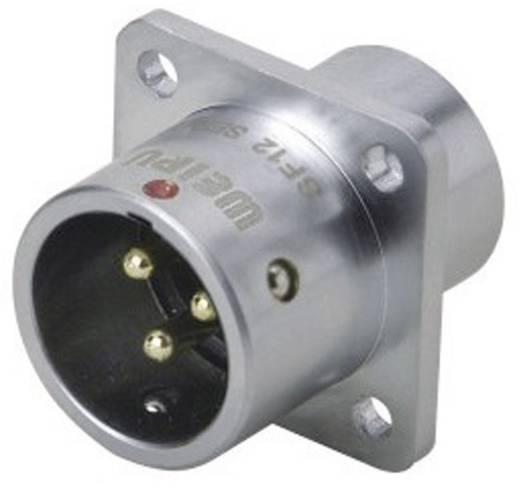 Push-Pull kerek dugaszolható csatlakozó IP67 Pólusszám: 4 Peremes dugó 5 A SF1213/P4 Weipu 1 db
