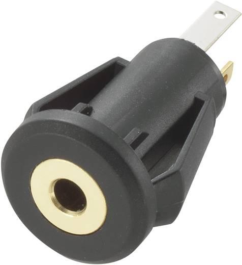 Beépíthető jack csatlakozó aljzat 2,5 MM 3 pólusú STEREO, bepattinthatós