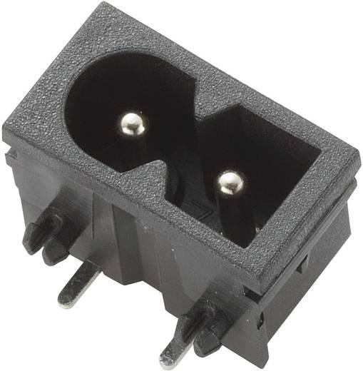 Beépíthető hálózati műszercsatlakozó dugó, vízszintes, 2 pól., 2,5 A, fekete, C8, 716968