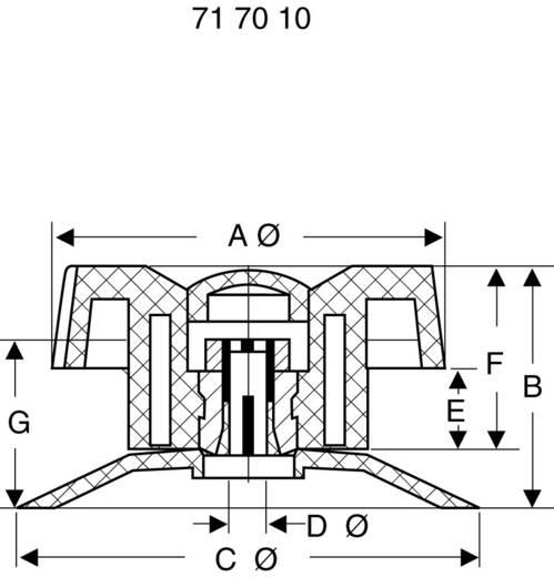 Műszer forgatógomb 50x35,5x58mm