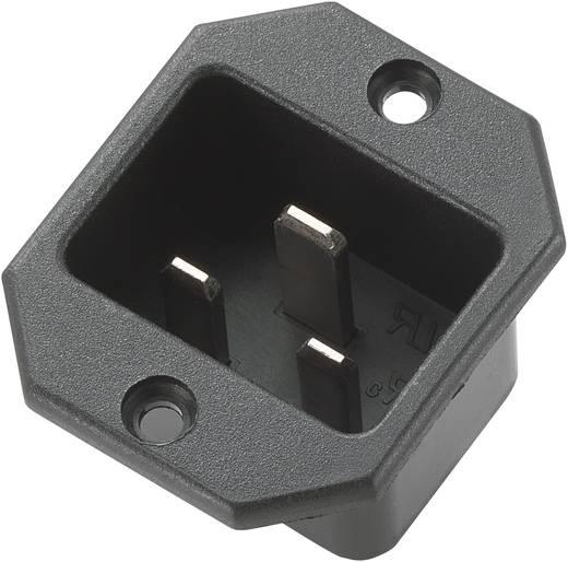 Beépíthető hálózati műszercsatlakozó dugó, függőleges, 3 pól., 16 A, fekete, C20, 717097