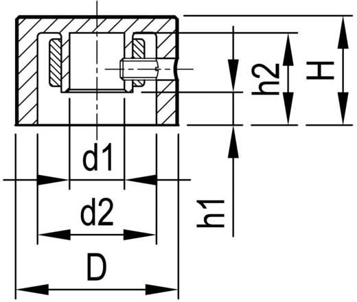 Alu forgatógomb oldalsó csavarrögzítéssel, 6 mm-es tengelyre, 37,8 x 6 x 32,8 x 15,9 x 3 x 13,5 mm, OKW