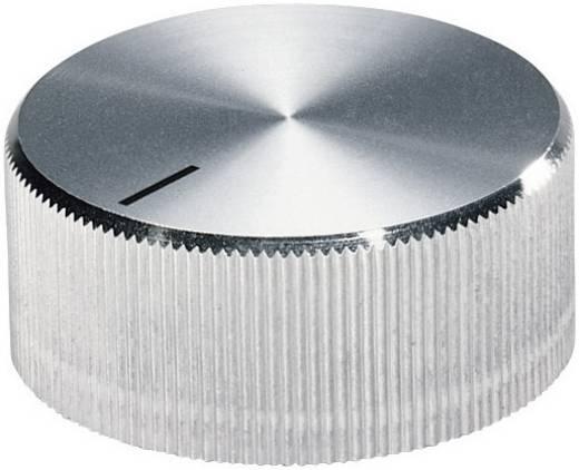 Alu forgatógomb oldalsó csavarrögzítéssel, 6 mm-es tengelyre, 32,8 x 6 x 15,5 x 14,4 x 3 x 12,3 mm, OKW