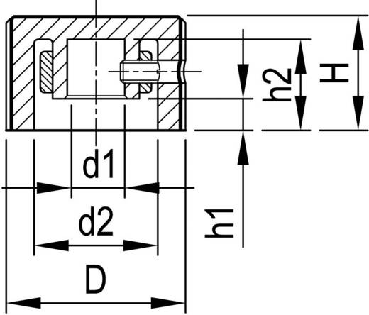 Alu forgatógomb oldalsó csavarrögzítéssel, Ø 6 mm, 17,8 x 6 x 12,9 x 12 x 3,3 x 9,5 mm, OKW