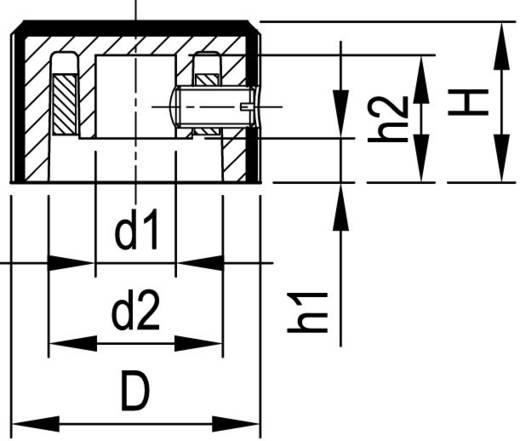 Alu forgatógomb oldalsó csavarrögzítéssel, 6 mm-es tengelyre, 22,8 x 6 x 14 x 13 x 3 x 11 mm, OKW