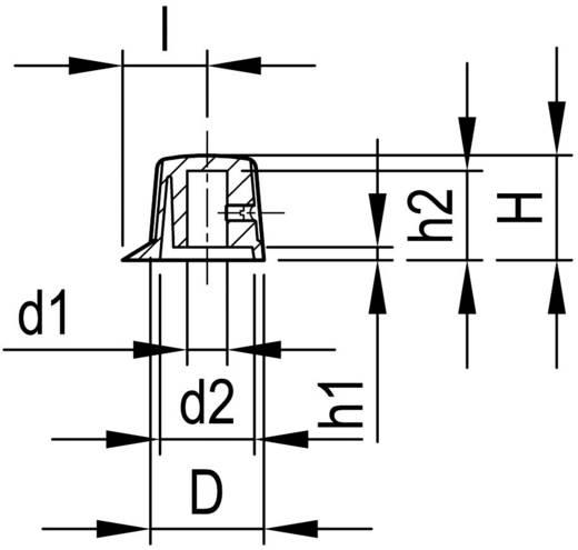 Fröcsöntött forgatógomb mutatóval, 6 mm-es tengelyre, fekete, 19,9 x 6 x 16 x 15,5 x 3,5 x 12,2 x 13,5 mm, OKW