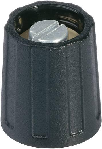 Kerek gomb 10 mm szürke/fekete