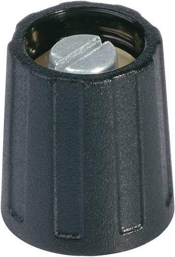 Kerek gomb 16 mm szürke/fekete