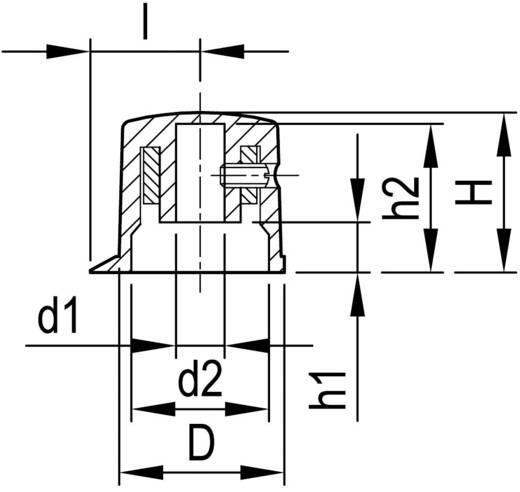 Forgatógomb mutatóval, Ø 6 mm, 20,7 x 6 x 16,9 x 19,7 x 6,2 x 18,3 x 13,5 mm, fekete, OKW