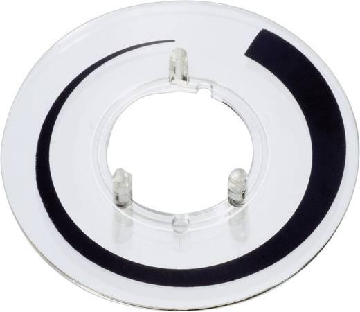 Skálatárcsa 13,5 mm-es kerek/szárnyas gombhoz bilincs jelöléssel
