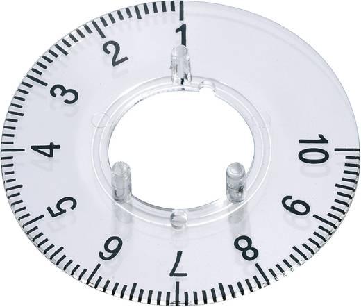 Skálatárcsa kerek gombhoz, vonással 1-10 (270°)