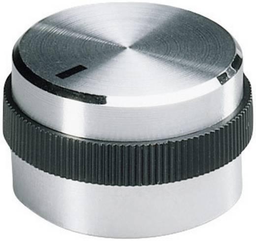 Alu forgatógomb oldalsó csavarrögzítéssel, 6 mm-es tengelyre, 22,2 x 6 x 12 x 17,9 x 15,5 mm, OKW