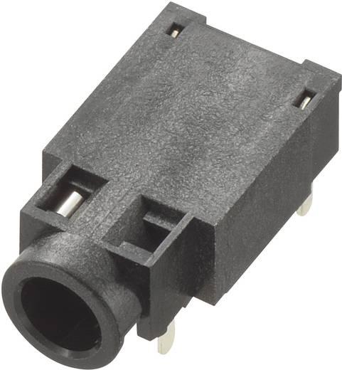 Beépíthető jack csatlakozó aljzat 3,5 mm, 4pólus, fekete