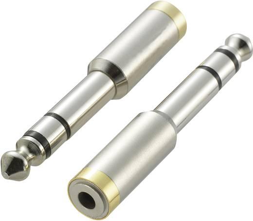 Jack adapter dugó, sztereo 6,35mm dugóból 3,5mm sztereo aljzattá alakító