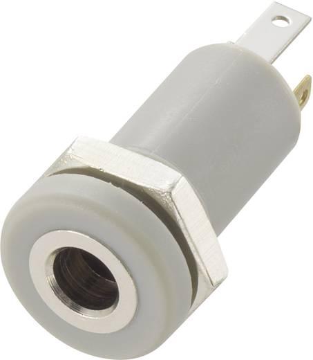 Beépíthető jack csatlakozó aljzat 3,5 mm, 4pólus, beépítési Ø: 8.2 mm