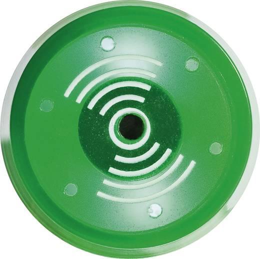 Akusztikus jeladó 80 dB 230 V/AC zöld, 22 mm, időszakos hangjelzés