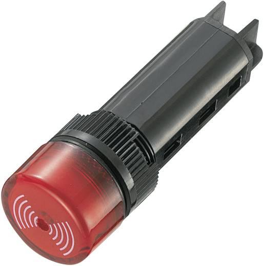 Akusztikus jeladó 80 dB 230 V/AC piros, 16 mm, tartós hangjelzés