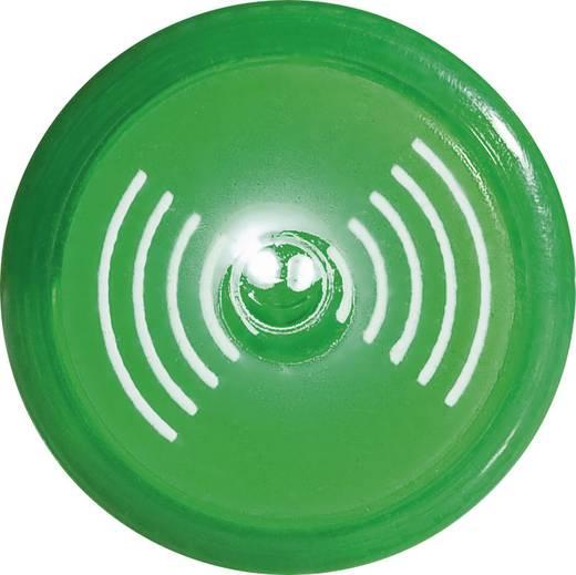 Akusztikus jeladó Hangerő: 80 dB 12 V/DC Zöld, 16 mm, szakaszos