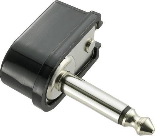 Jack csatlakozó, 6,35 mm dugó, hajlított pólusszám: 2 Mono fekete 1 db