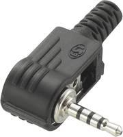 2,5 mm-es jack dugó, 4 pól., Tru Components 1571453 (719111) TRU COMPONENTS