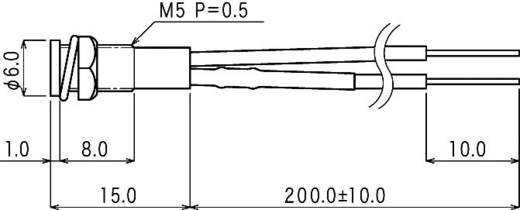 Neon jelzőlámpa, BN-0551, 230V, piros