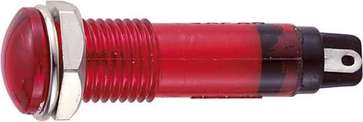Neon jelzőlámpa, BN-0755, 230V, piros