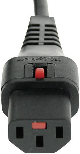 Műszercsatlakozós vezeték, C13, fekete, 3 m, Kash