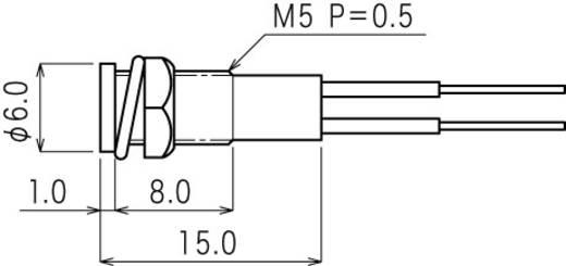 Mini jelzőlámpa piros 12 V