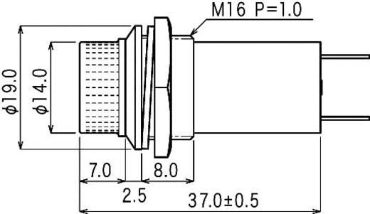Jelzőlámpa, B-114, 12V, átlátszó
