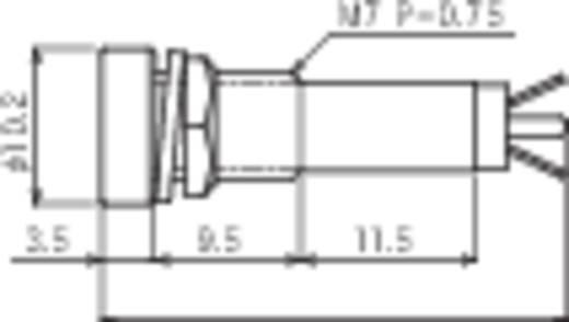 Standard jelzőlámpa, B-406, 24V, piros