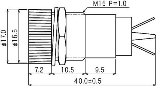 Jelzőlámpa, B-432, 24V, zöld