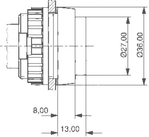 RAFI jelzőlámpa izzófoglalattal, max. 250V, 5W, E14, 1.61.021.099/0000