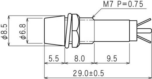 Standard jelzőlámpa, B-403, 12V, piros