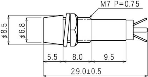 Standard jelzőlámpa, B-403, 24V, zöld