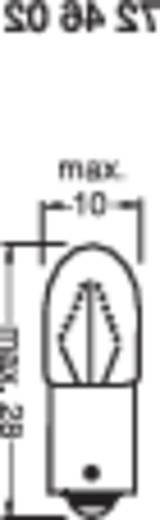 Kis csőizzó 12 V 1.2 W 100 mA Foglalat=BA9s